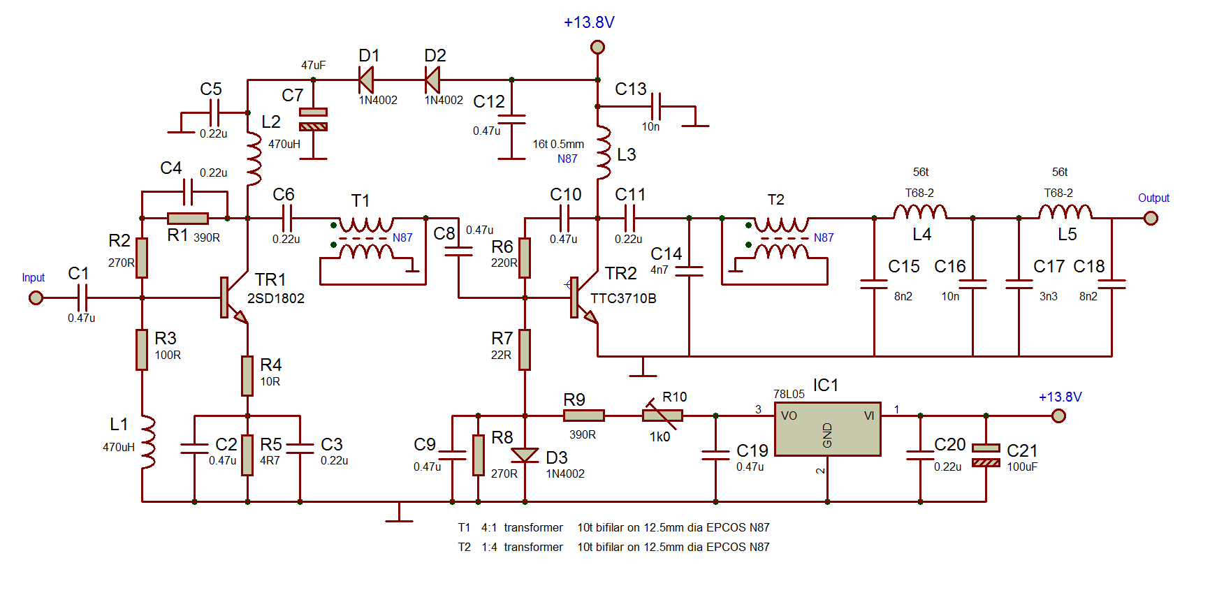 5 Watt Amplifier Circuit Diagram Wiring Library Understanding Xenon Flash Tube Circuits Tutorial The Is A 2 Stage Design And Uses Npn Transistors In Preference To Fets